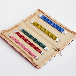 KnitPro ZING Strumpfstricknadel Set 15 cm lang, Art. 47401