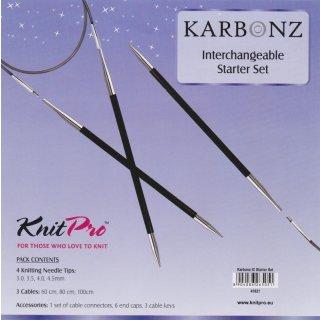 KnitPro Karbonz Starter Set, Art. 41621