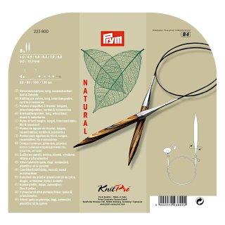 Prym KnitPro Natural Rundstricknadel Set, Art. 223800