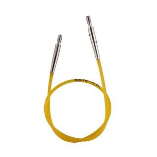 KnitPro Nadelseil für ca. 40 cm Gesamtlänge, gelb