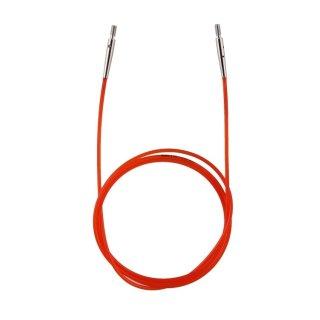 KnitPro Nadelseil für ca. 100 cm Gesamtlänge, rot