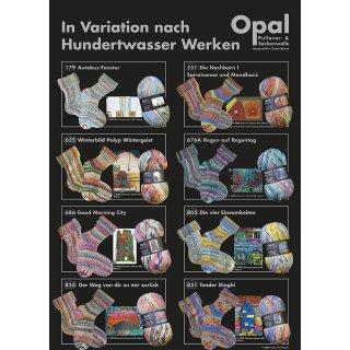 Opal Sockenwolle 4-fach Hundertwasser II 2104 - nach Werk 625 - Winterbild - Polyp - Wintergeist