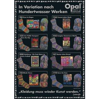 Opal Sockenwolle 4-fach Hundertwasser III 3200 - nach Werk 988 - Kuss im Regen