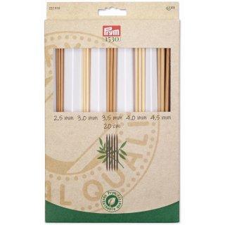 Prym Bambus Stricknadel-Set 1530, 20 cm, 2,5 - 4,5 mm, Art. 222910