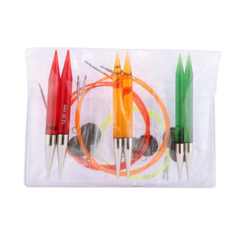 KnitPro Chunky Set Spectra TRENDZ Nadelspitzen für Rundstricknadeln 50617