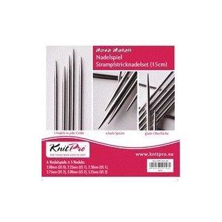 KnitPro Nova Metall Strumpfstricknadel-Set 15 cm Länge, Art. 10651