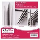 KnitPro Nova Metall Strumpfstricknadel-Set 15 cm...